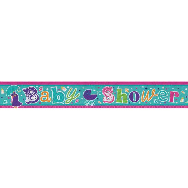 Baby Shower Holographic Foil Banner